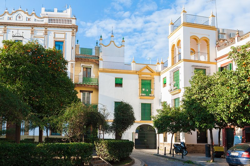 The apartment belongs to a typical Sevillian house in the heart of Santa Cruz.