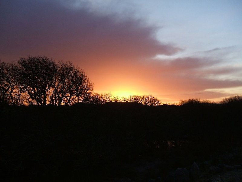 Sunset at cottage.