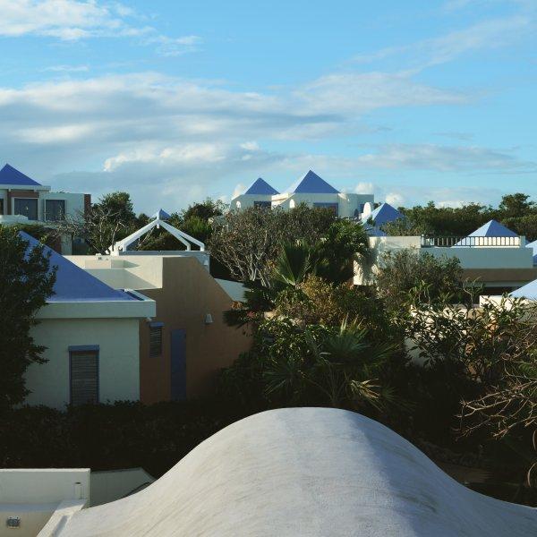 Ver a partir do pátio superior do telhado.