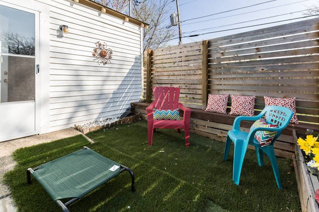 great patio for people and pets!