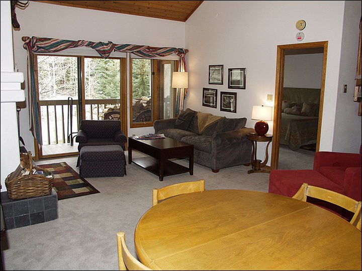 Large open Dining and Living areas with access to Balcony.