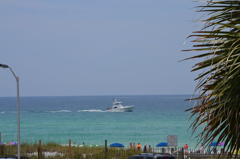 See boats and dolphins pass by! Grab that favorite book and sit on the balcony or porch.