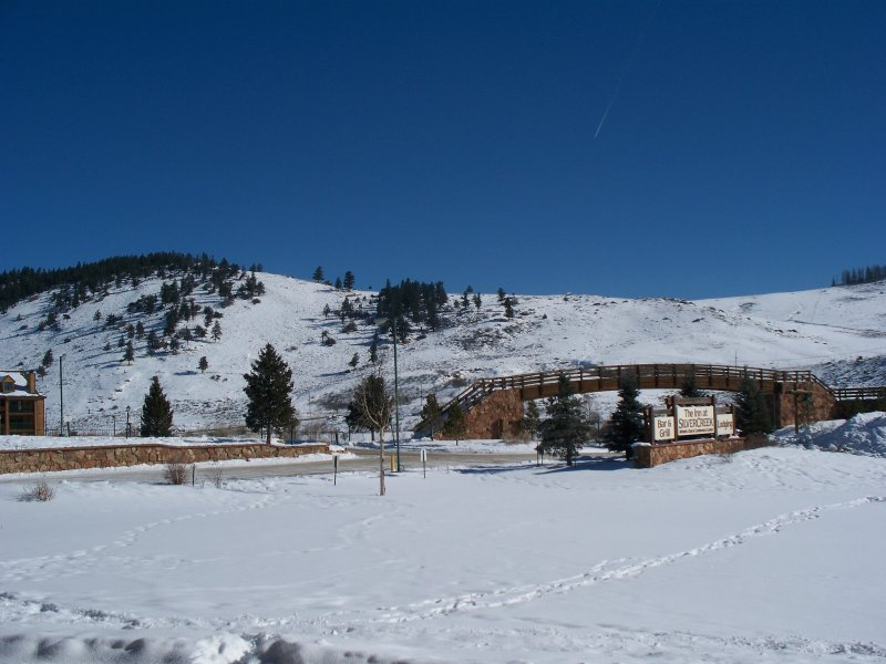 This is the spectacular view from the patio. Ski Granby Ranch is right up that hill. A 3 minute ride