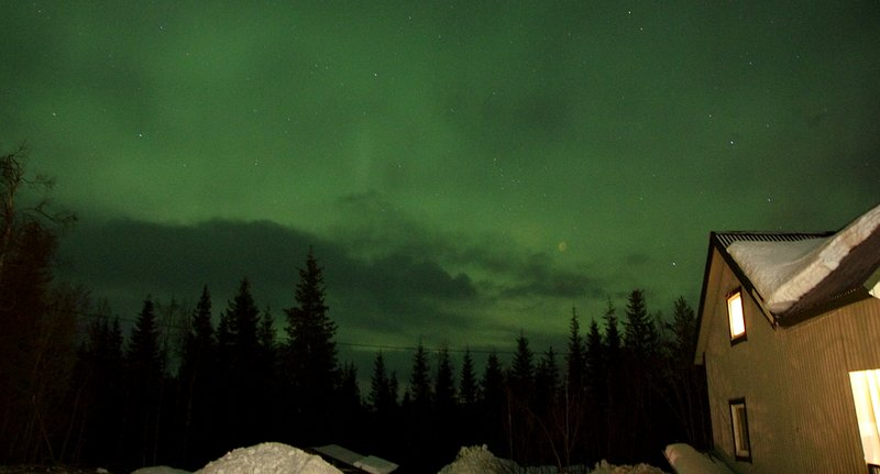 You can see the Aurora from the house if the weather is right!