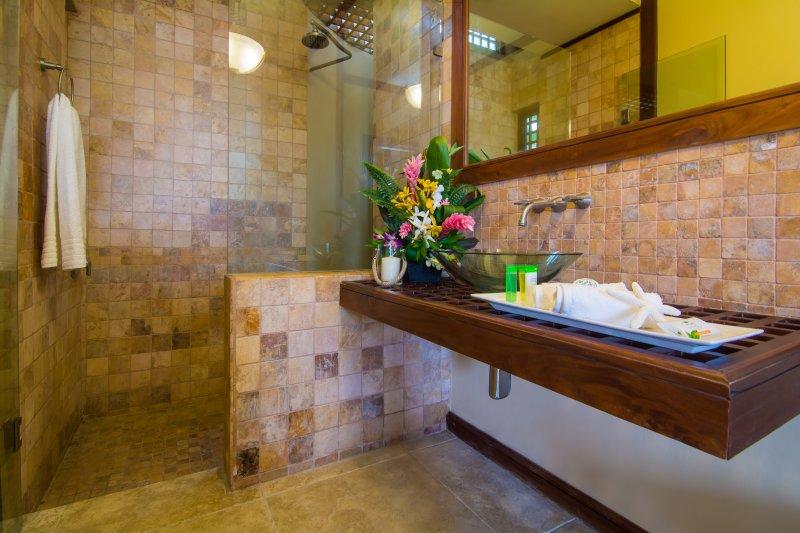 Une salle de bain supplémentaire au rez-de-chaussée de la maison principale