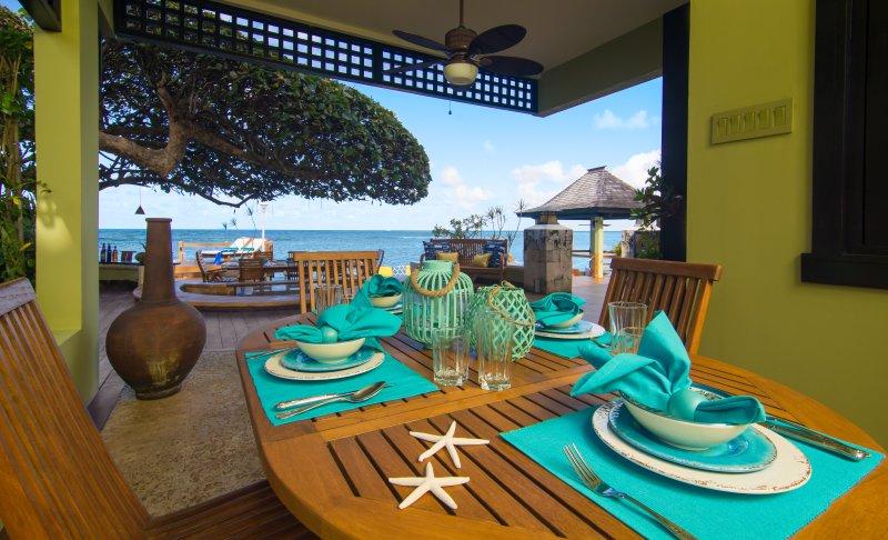 Repas en plein air - style tropical