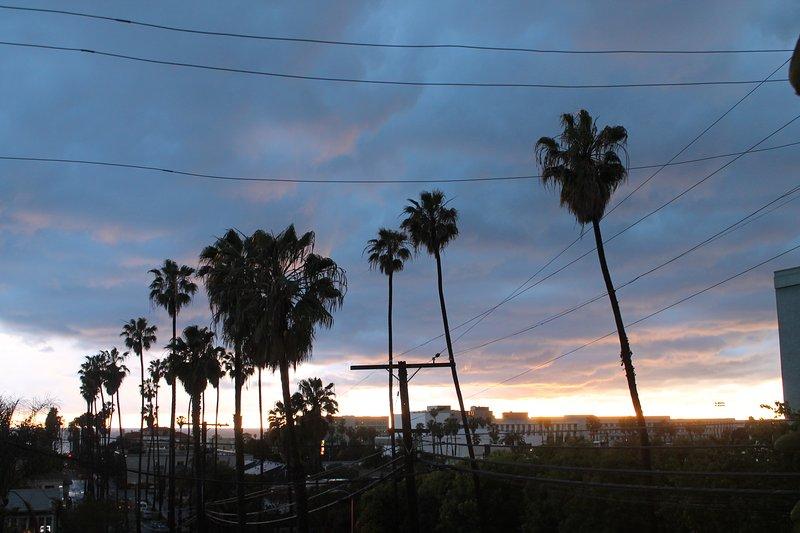 Sonnenuntergang von Front Yard