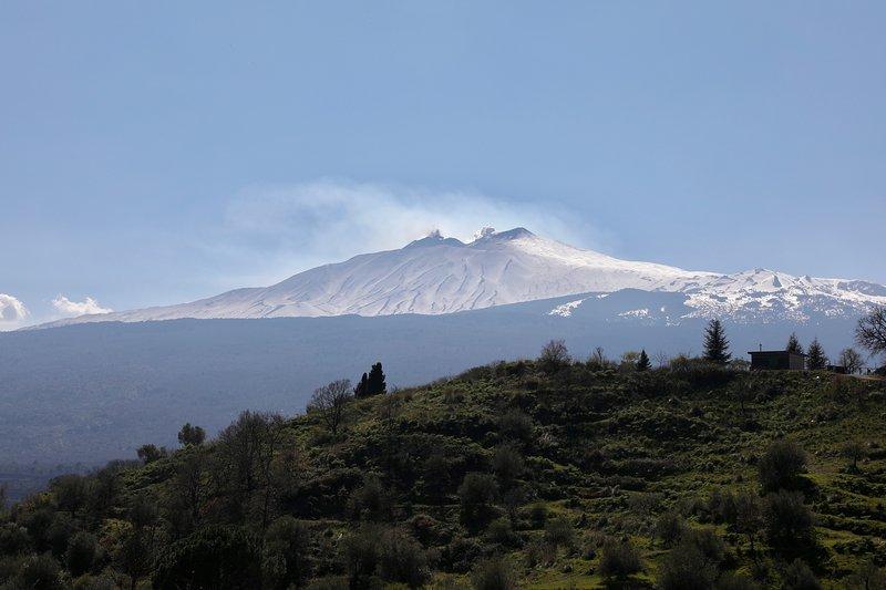 La Dimora del Castelluccio de lujo B & B. La maravillosa vista sobre el volcán Etna lado norte