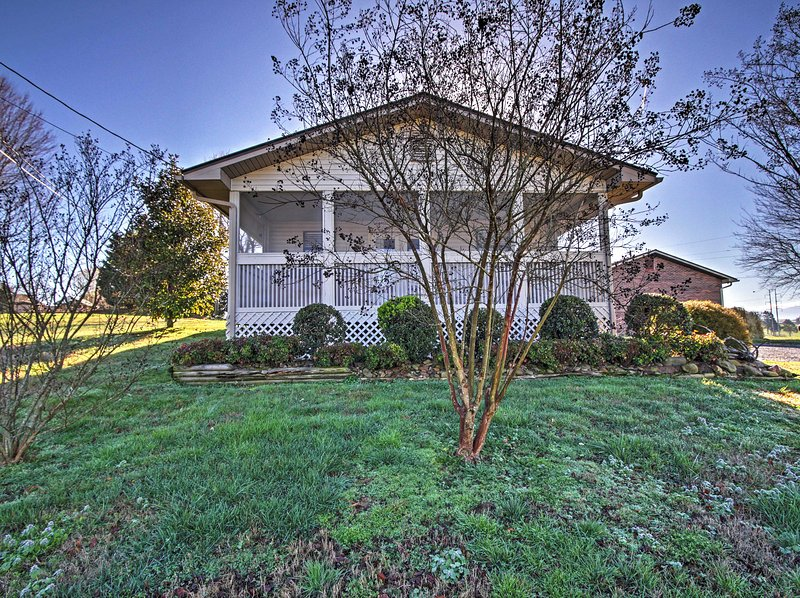 Enjoy stunning valley and river views from your private balcony when you stay at this charming Sevierville house.