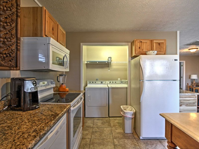 The kitchen makes it easy to save cash by eating in!