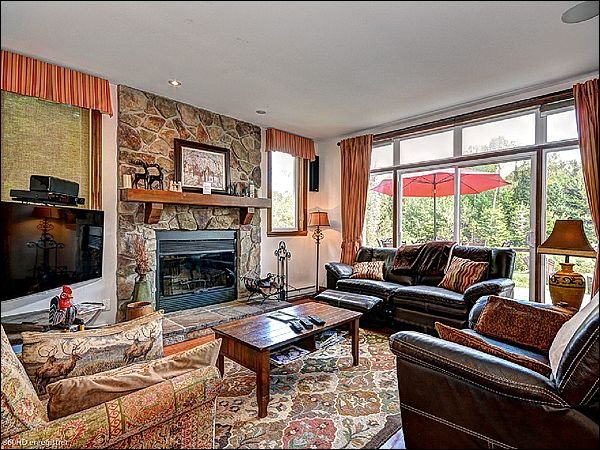 Gorgeous  Living Room with Fireplace