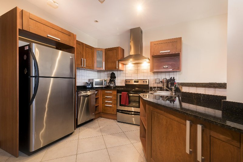 Spacious gourmet kitchen, fully stocked