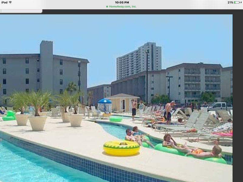 Myrtel beach resorts two bedroom condo 1st floor next to water park easy access, holiday rental in Surfside Beach