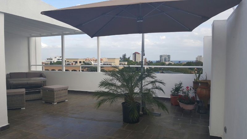 OCEAN VIEWS  + PRIVATE ROOFTOP WITH YOUR OWN BBQ + 24HRS SECURITY + LOCATION, vakantiewoning in Santo Domingo