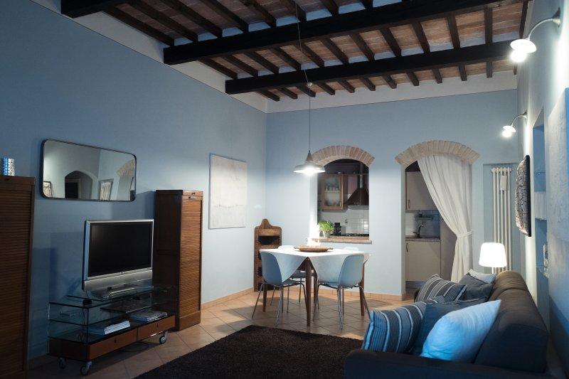 woonkamer en eetkamer