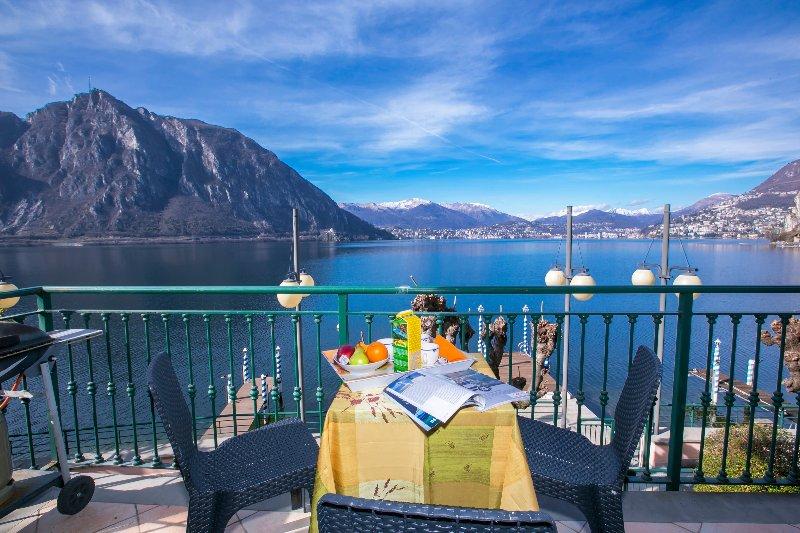 Vista sul lago di Lugano