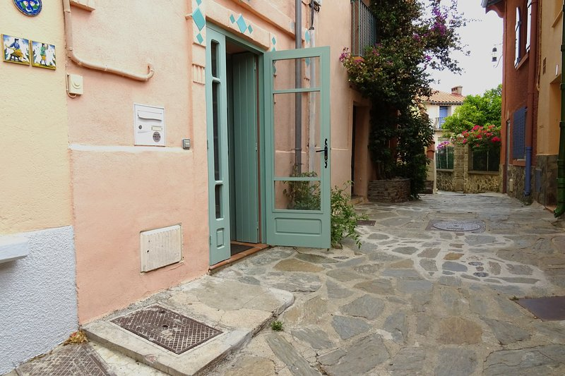 Access to the apartment from the pedestrian street