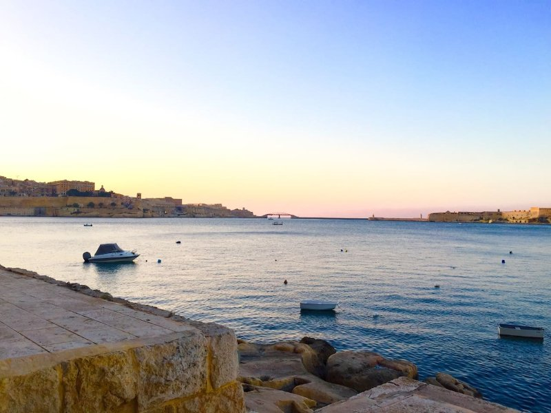 Mesmerising sunset views over Valletta and the Grand Harbour