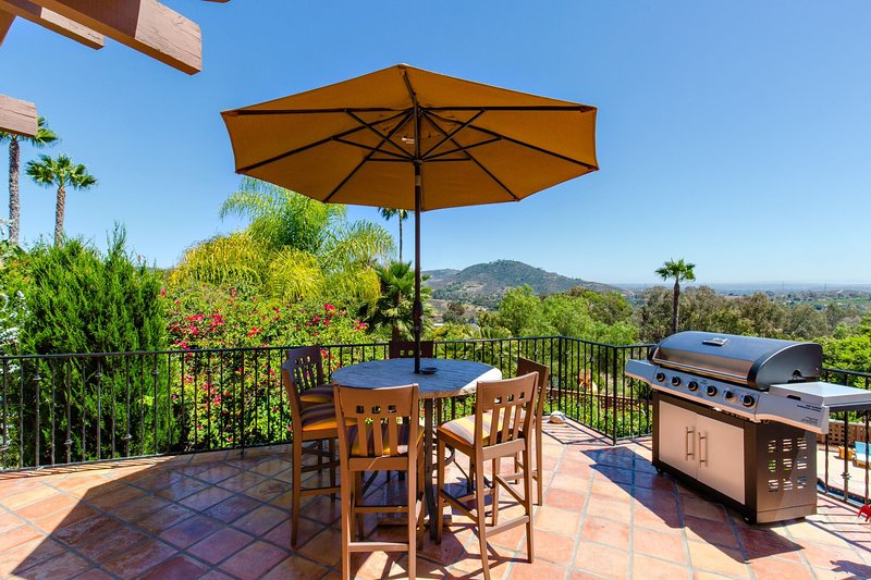 Patio Table and BBQ off Kitchen