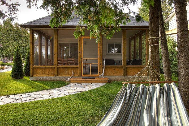 Framför Cottage: 250 kvm secure screening i veranda