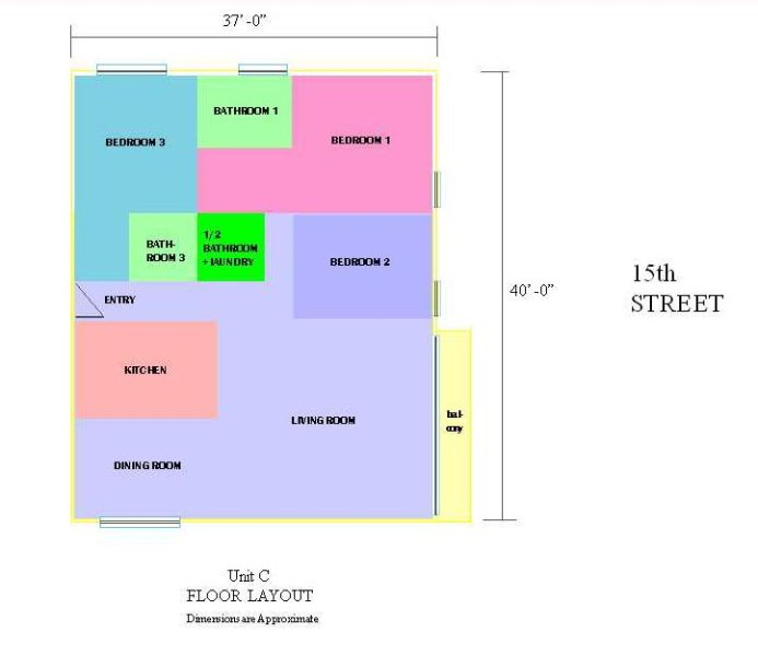 Floor Plan of the Condominium