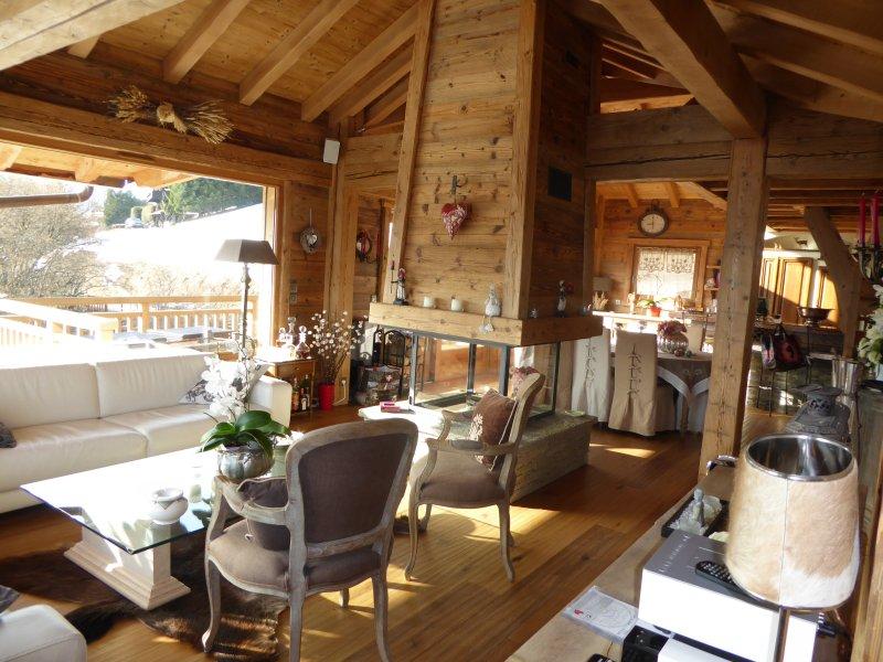 Chalet à louer avec vue exceptionnelle et à 5mn du domaine skiable, holiday rental in Combloux