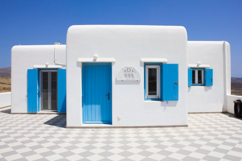 Blue Cactus Villas: Modern, Fully-Equipped, 5 min from Mykonos Town, Ferienwohnung in Mykonos