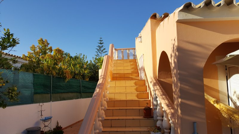 Approching the stairs....