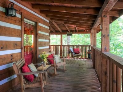 Enjoy your morning coffee relaxing on the large wraparound covered deck.