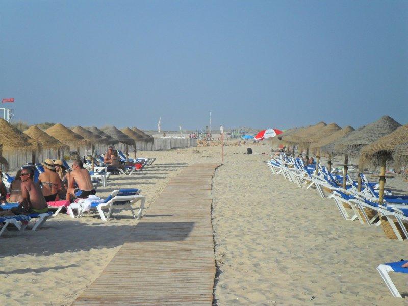 Playa Farol en verano