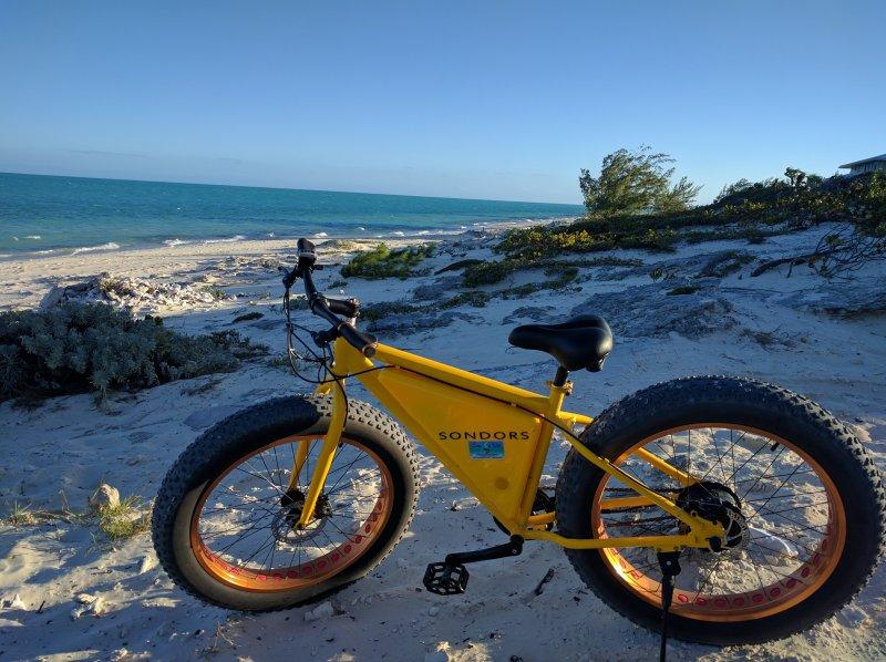 Beach electric bike for rent