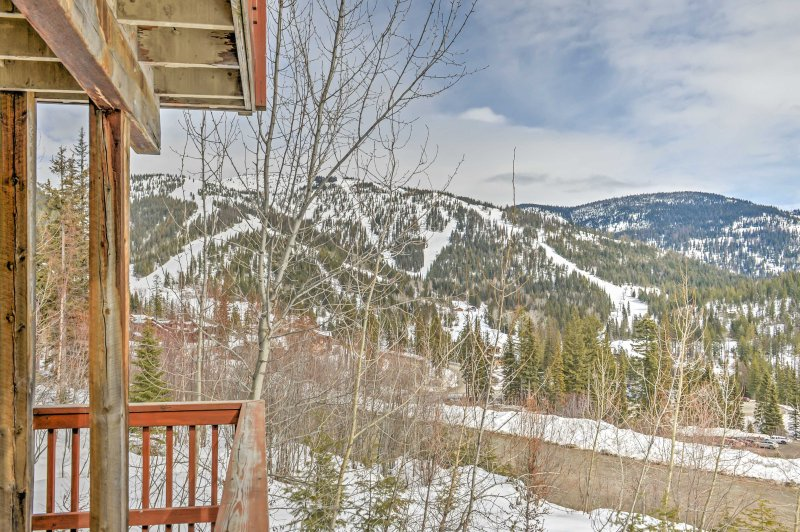 Enjoy unrivaled views of Whitefish Mountain Resort from this vacation rental.