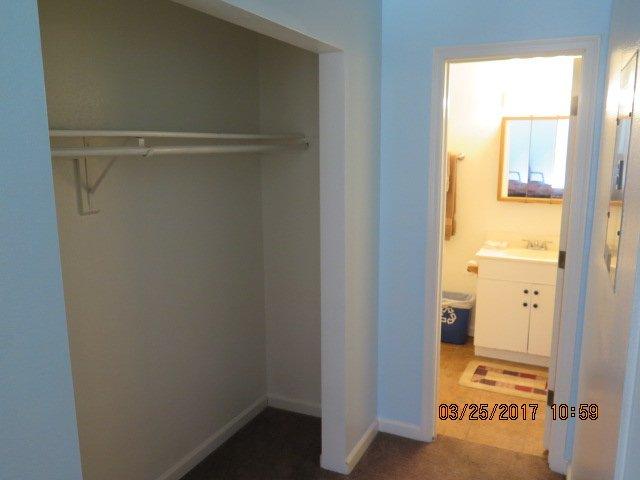 Storage closet master suite
