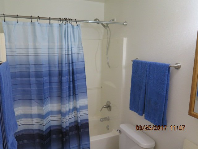 common bathroom with tub and shower