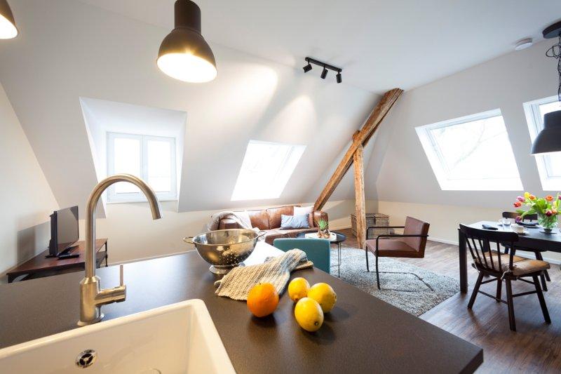 Kitchen and living apartment Ludgerushof Bocholt