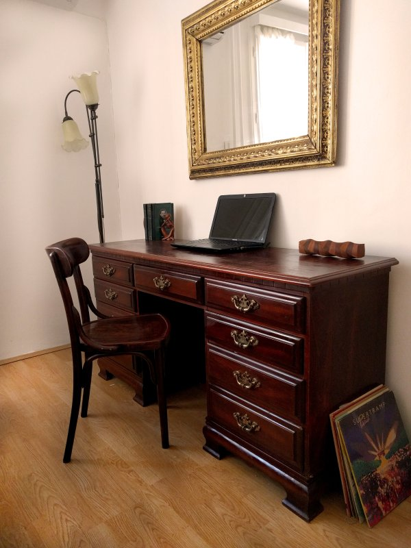 Work desk in the main room