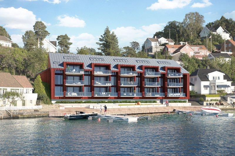 Sexy seafront apartment, location de vacances à Froland Verk