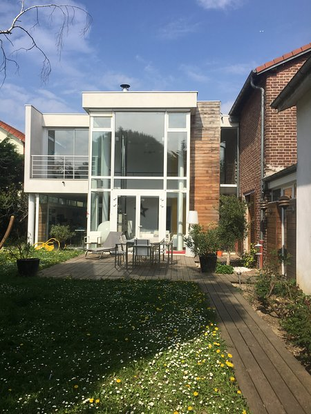 the architect has managed to combine ancient and contemporary house