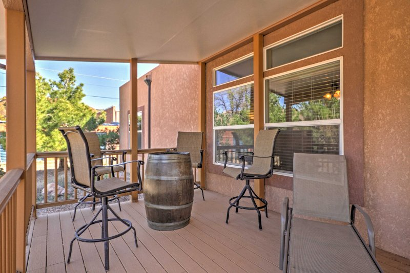 Enjoy lounging outside on the covered patio.