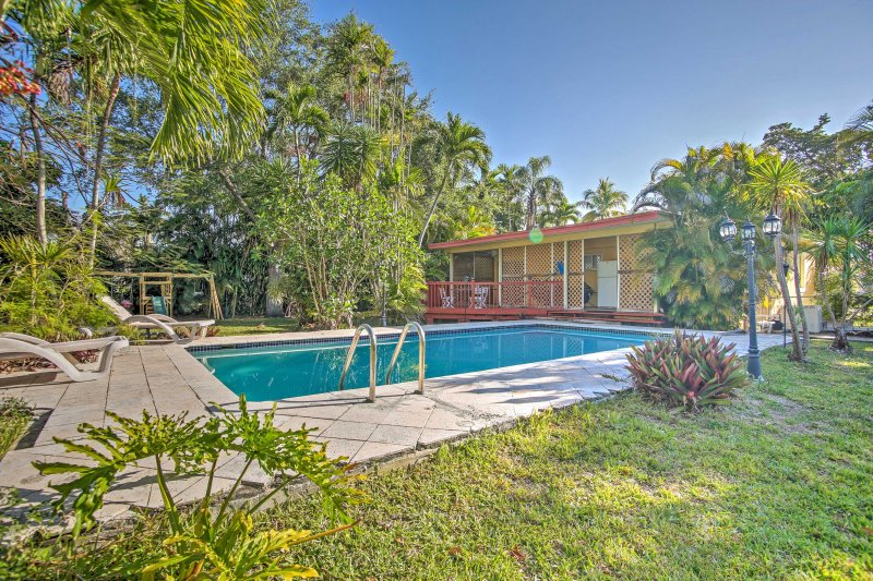 Soak up the best of Florida from this beautiful vacation rental home in the heart of Miami Springs!
