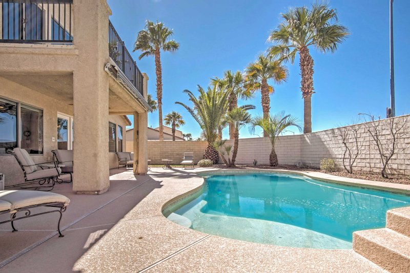 You'll love having access to a private pool right in your backyard when you stay at this 4-bedroom, 3-bathroom vacation rental home in Las Vegas!
