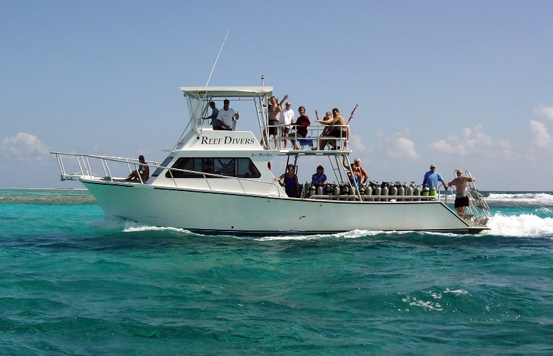 Short, comfortable boat rides transport you to the best dive sites