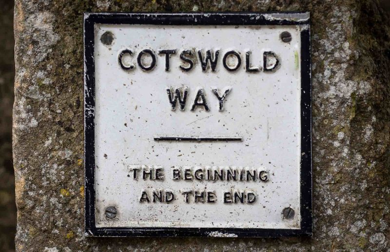 The Cotswold Way is a walking trail, which goes all the way to Bath!