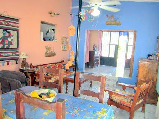 Villa- living room, dining room and bedroom