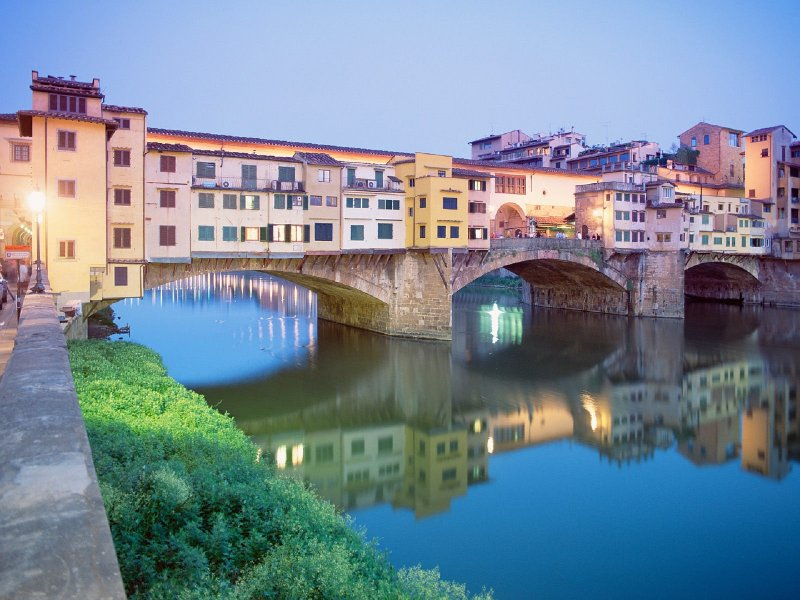The city of Florence can be reached in just over an hour
