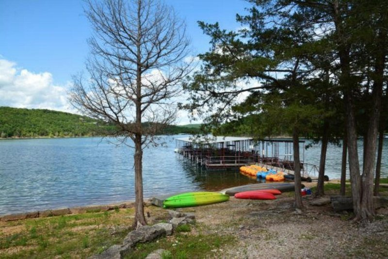 Rent canoes, kayaks and pedal boats for small fee right here at our resort.  Call to reserve today!