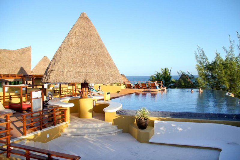 Palapa roof top
