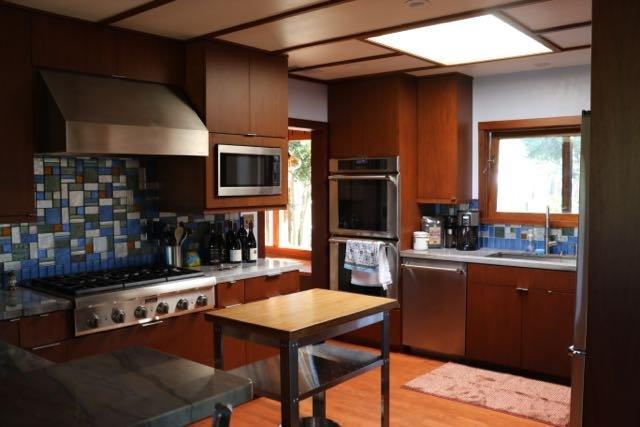 Cozinha do chef com rancho e vistas Vinyard