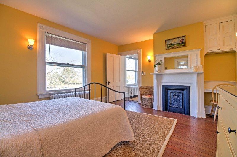 Heitre gelbe Wände werden Sie für Ihren anstrengenden Tag mit Energie versorgt fühlen!