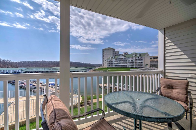 Enjoy views of the Lake of the Ozarks at this 3BR, 2-bath vacation rental!